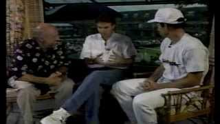 1990 John McEnroe interview with Jimmy Connors and Bud Collins