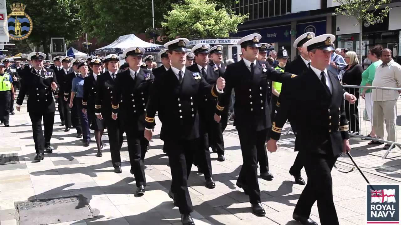 Royal Naval Reserves HMS King Alfred Freedom Parade 2011