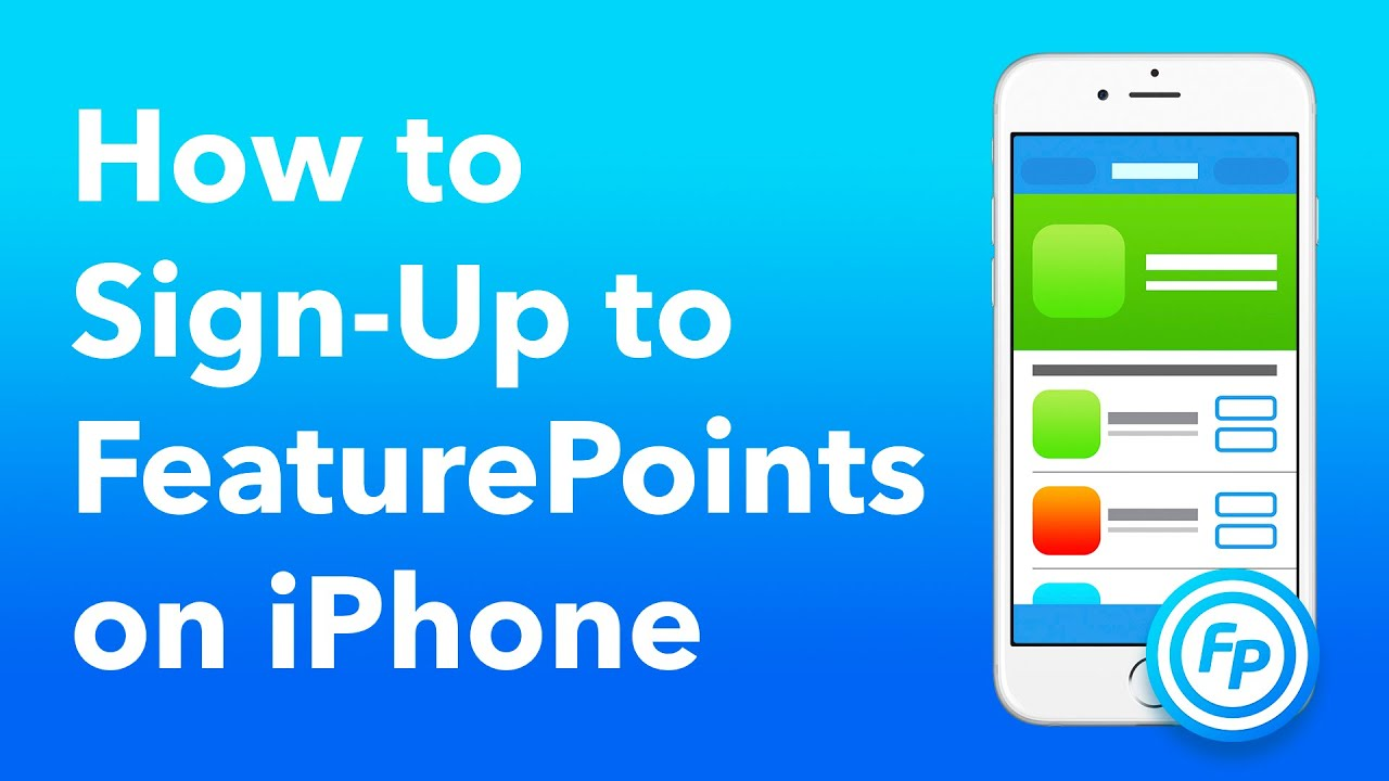How to signup to FeaturePoints on iOS (iPhone, iPad & iPod touch)