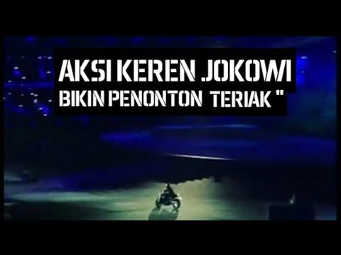 Full Video - Aksi Keren Jokowi Naik Motor Di Panggung ( GBK ) Opening Ceremony Asian Games 2018