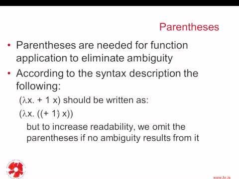 Programming Languages: Lambda Calculus - 1