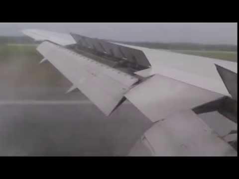 Amazing shot of plane landing in Monrovia