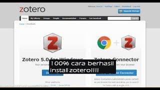 Gambar cover cara download dan menginstall aplikasi Zotero