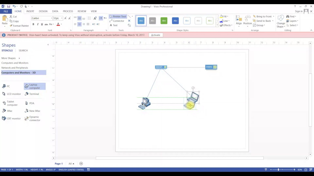 how to build network diagram on visio 2013 - Build Network Diagram