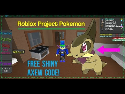 roblox codes for project pokemon