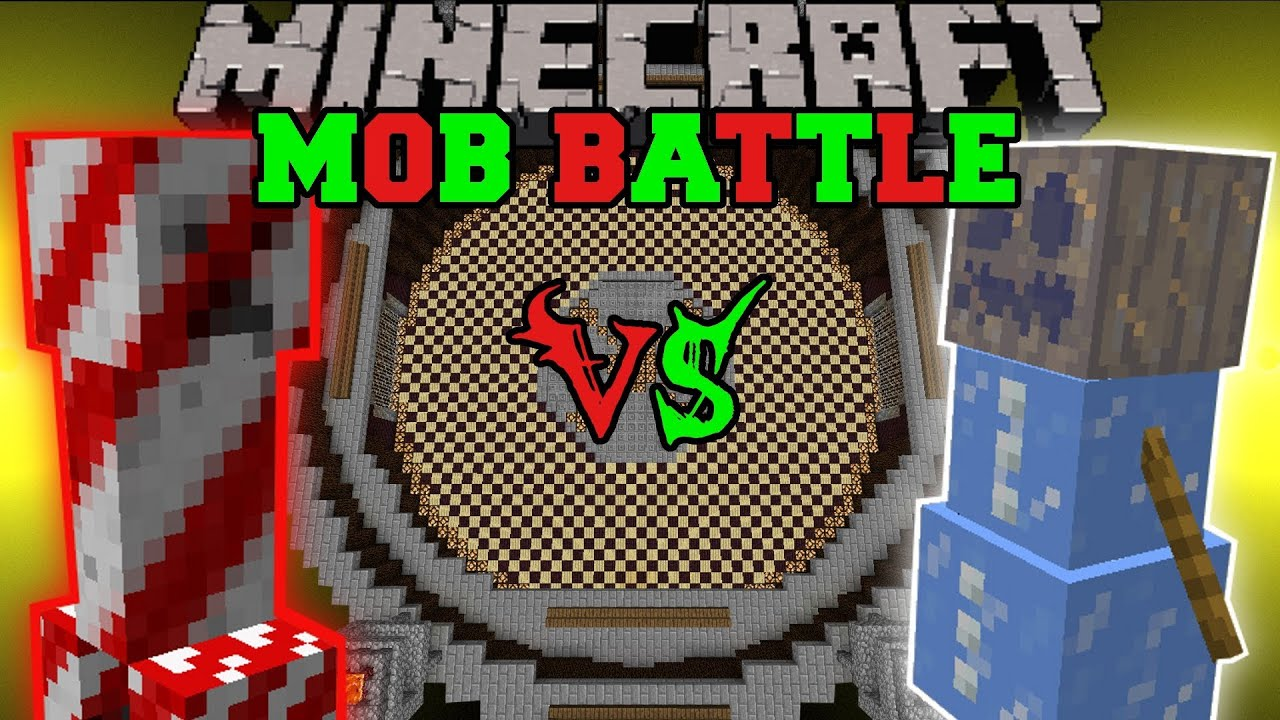 CANDY CREEPER VS ICE GOLEM - Minecraft Mob Battles - Christmas ...