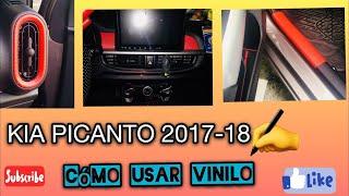 cómo poner vinilo en el interior de auto KIA PICANTO 2017 Perú