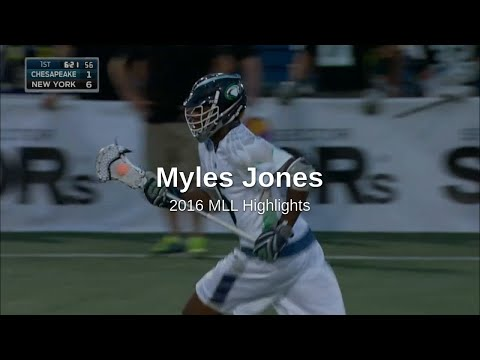 Myles Jones 2016 MLL Highlights
