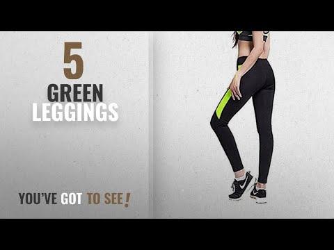 Top 10 Green Leggings [2018]: Crazy Prints stretchable track pant GYM YOGA EXERCISE WALK JOGGING