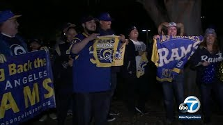 Rams fans ecstatic as team heads off to Super Bowl 53 | ABC7