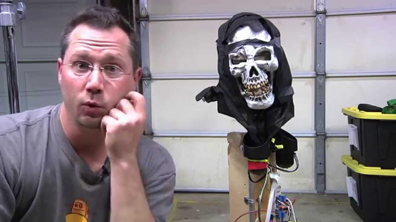 DIY Halloween AirPowered Pop Up Skull Prop  YouTube