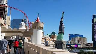 Tropicana and Las Vegas Blvd. 4 Pedestrian Bridges Quick Tour..