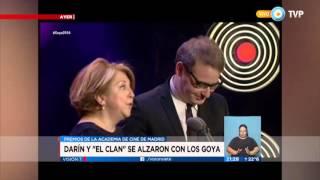"""Visión 7 - Darín y """"El Clan"""" se alzaron con los Goya"""