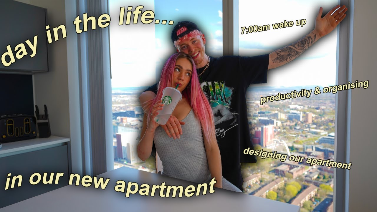 Day In The Life of a YouTube Couple *IN OUR BRAND NEW APARTMENT*