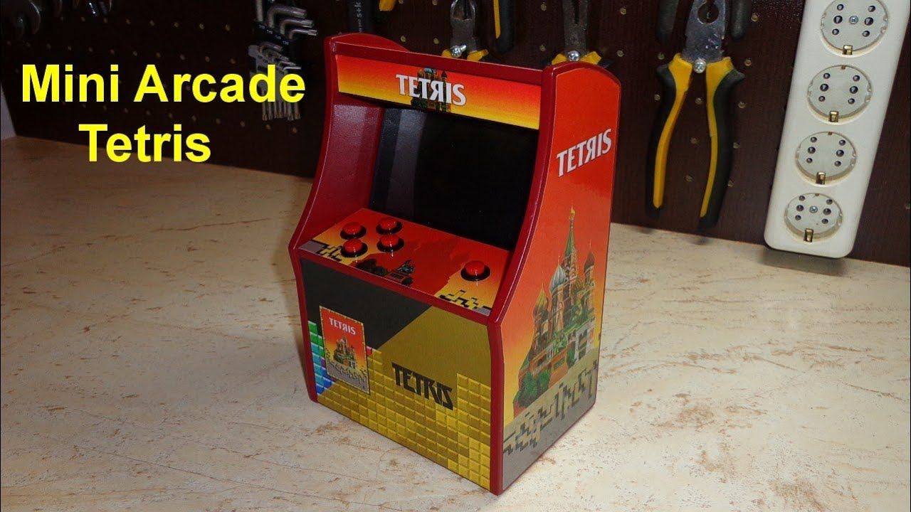 Tiny Arcade Tetris Miniature Arcade Game