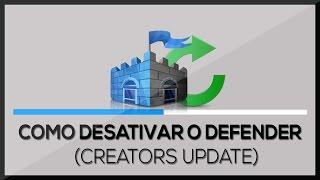 كومو DESATIVAR o WINDOWS DEFENDER لا ويندوز 10 (المبدعين تحديث) | BT