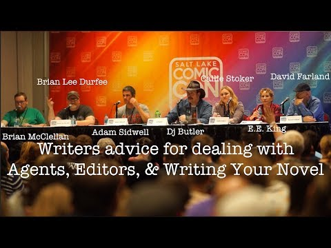 Writers Panel #SLCC17  Advice for dealing with Agents, Editors, & Writing Your Novel
