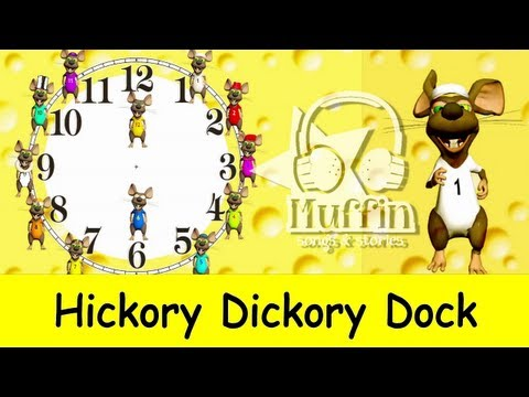 Hickory Dickory Dock | Easy learning to read the time on a clock  | Family Sing Along - Muffin Songs