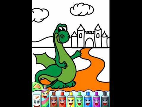 Renkler Ve Kitap Boyama çocuk Eğitim Coloring Book Child