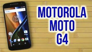 распаковка Motorola MOTO G4 XT1622 Black