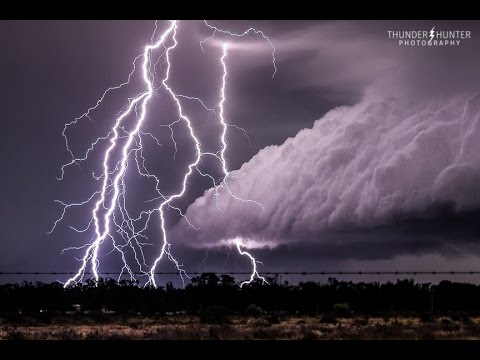 Epic Australian lightning barrage