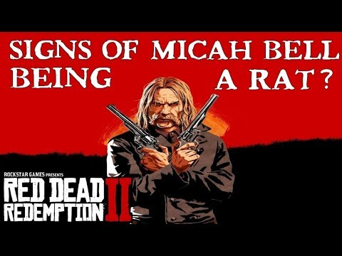 Red Dead Redemption 2 | First signs of Micah Bell being a Rat?