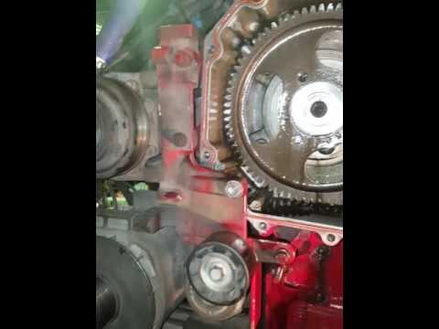 ISX Cummins 15 remanufactured engine static timing and valve cam gear  removel