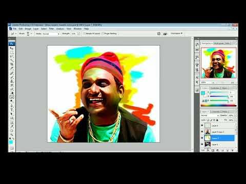 marathi actor bhau kadam painting in photoshop