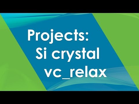 Project: 3.1 Si crystal constant and density | Quantum Espresso Tutorial 2019