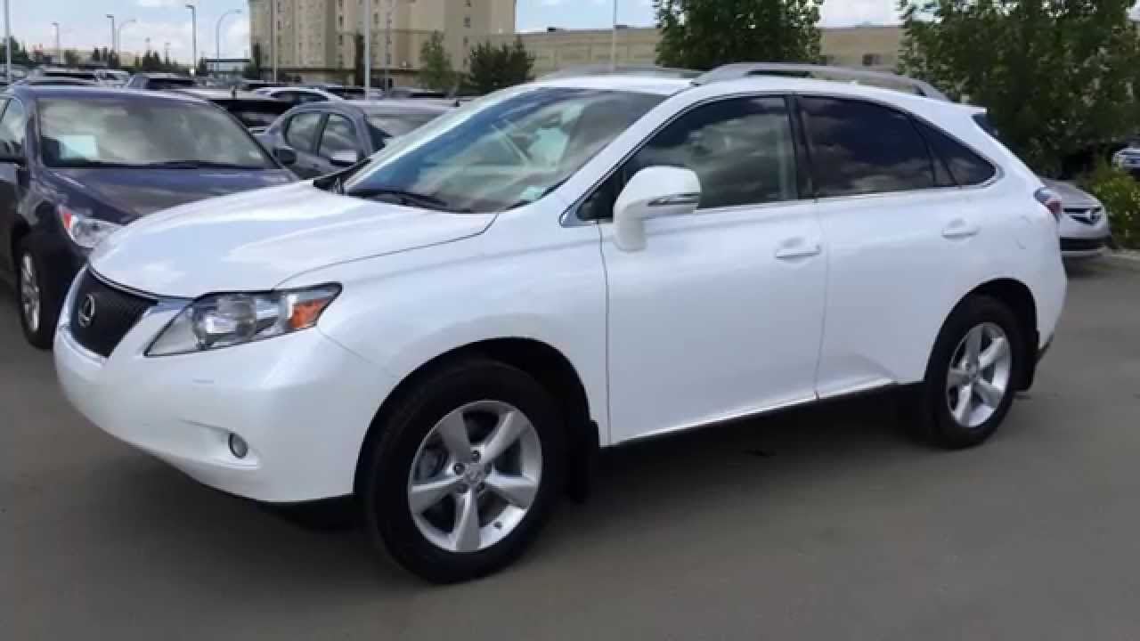 Lexus Certified Pre Owned >> Lexus Certified Pre Owned 2010 RX 350 AWD White on Black ...