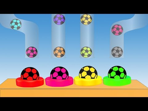 Soccer Ball Colors Video For Children || Learning Colors || Cartoon For Kids thumbnail