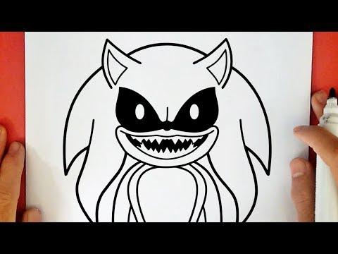 Como Dibujar A Sonic Exe Youtube
