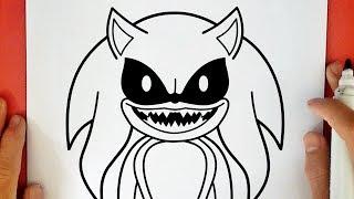 Como Dibujar A Sonic Exe