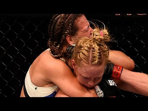 Miesha Tate Chokes Out Holly Holm  UFC 196