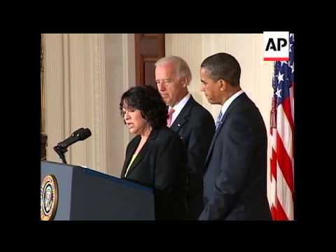 President Barack Obama has nominated Sonia Sotomayor to the Supreme Court. The AP's Julie Pace repor
