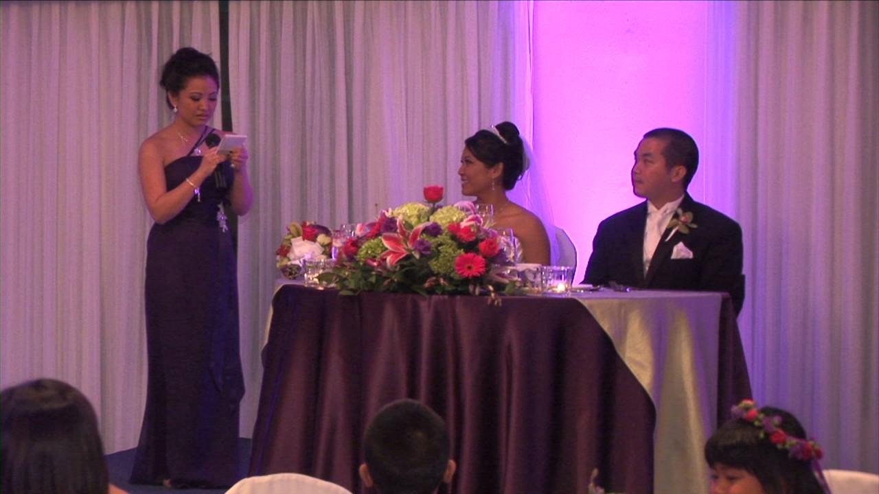 Little Sister\'s Wedding Speech, Maid of Honor - YouTube