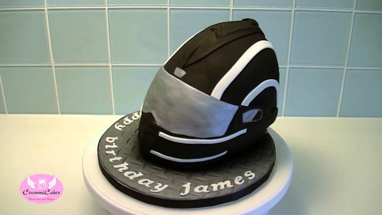 How To Make A Motorbike Cake Helmet
