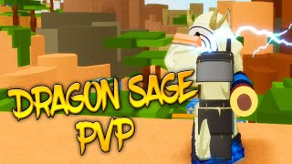 Dragon Sage VS Saberu/Lava User | ( Shinobi Story Roblox )