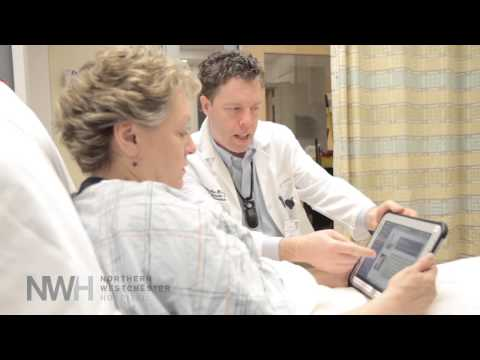 Thanks to Northern Westchester Hospital's new bedside tablet program, patients are able to monitor their recovery progress in real time.