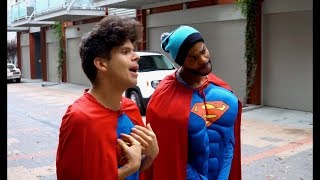 Rudy Mancuso, King Bach & Lele Pons funniest vine superman vs superman