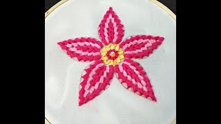 Hand Embroidery | Cluster Stitch Hand Embroidery | Flower Embroidery Design | Embroidery Tutorial
