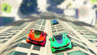 CARS ON BUILDINGS! (GTA 5 Funny Moments)