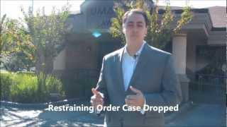 restraining order case dropped