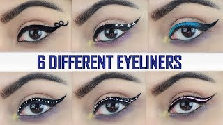 Six Different Eyeliners for Beginners(HINDI) | Deepti Ghai Sharma