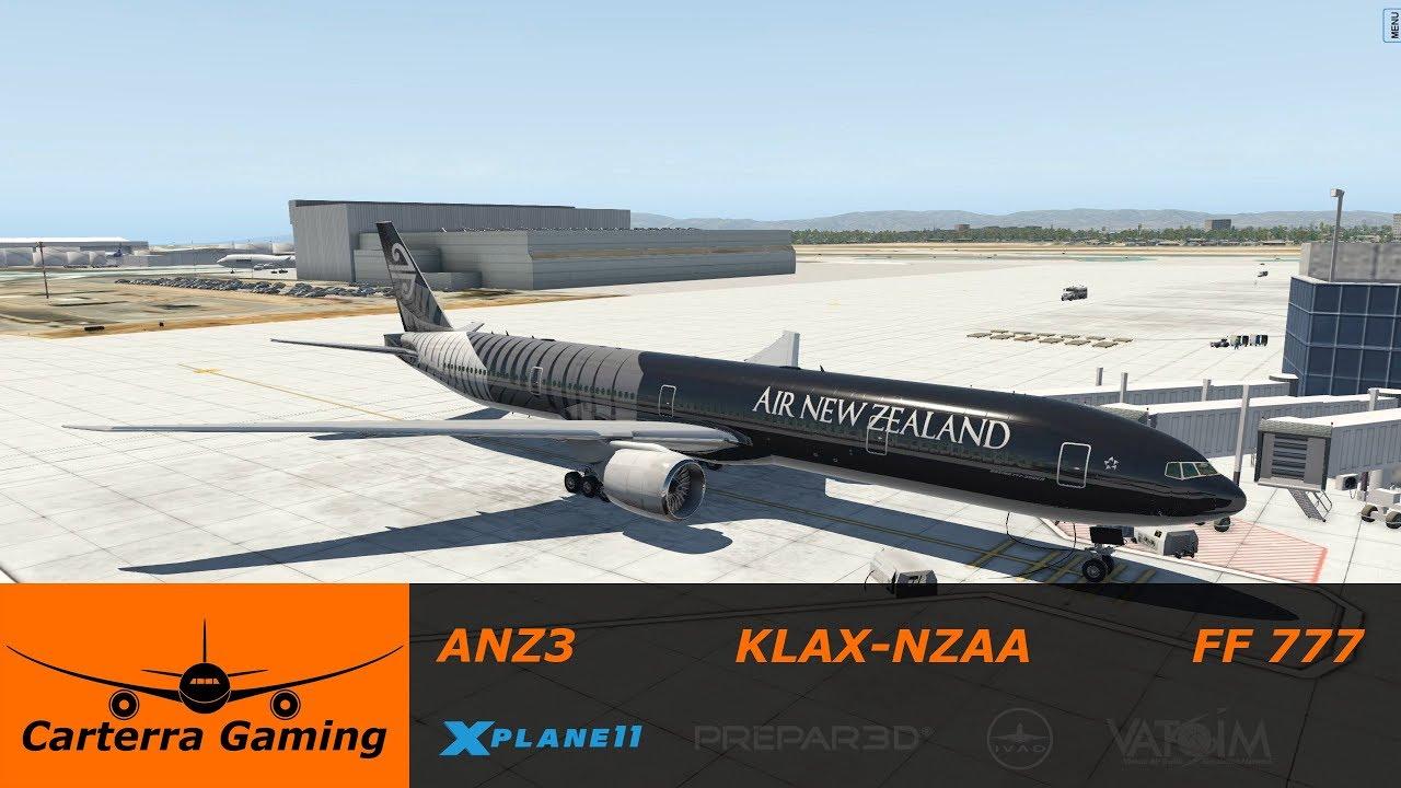 ANZ3 | KLAX-NZAA | Flight Factor 777 | X-Plane 11