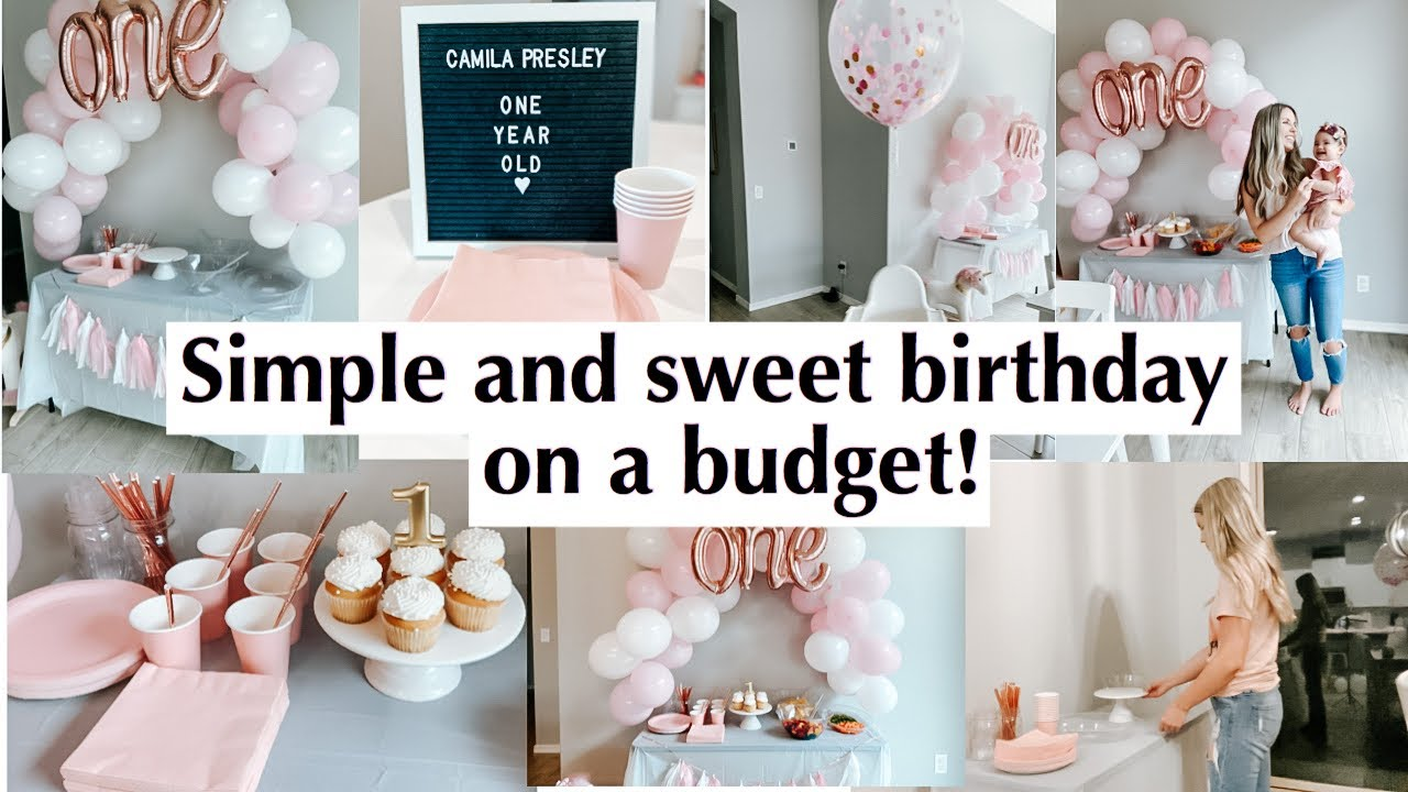 Simple and cute birthday party on a budget | 1st bday ideas | party decorations from dollar tree