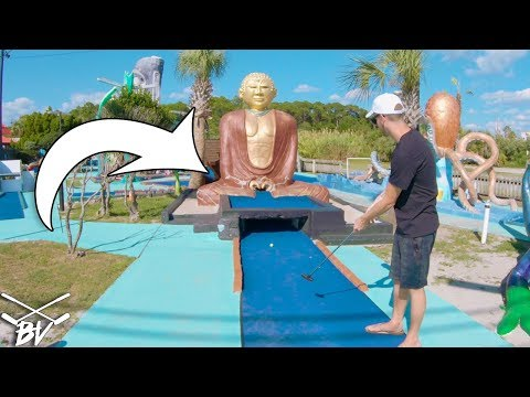 MUST SEE CRAZY MINI GOLF COURSE + Double Mini Golf Hole In One!