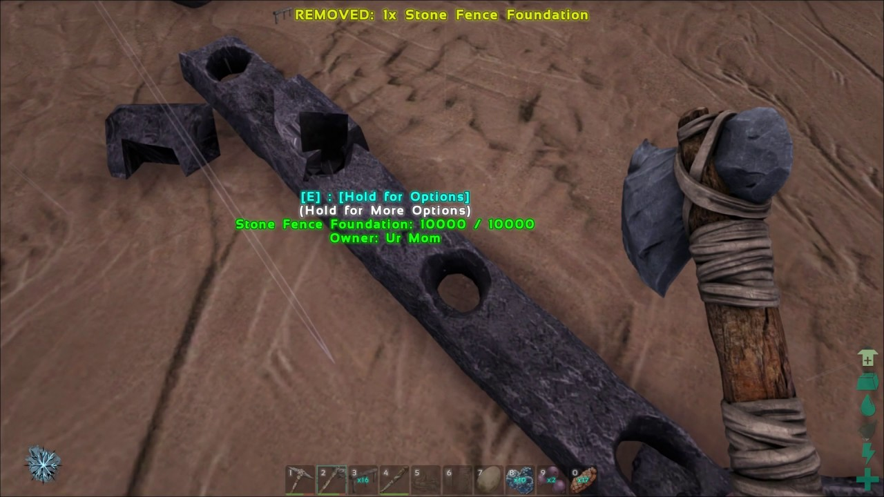 Stone Fence Foundations Trolling Me Ark Youtube
