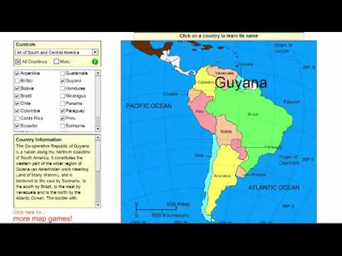 Learn the countries of South America and Central America! - Geography video