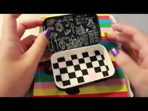 sketchbook tour + BLACKPINK altoids box painting!